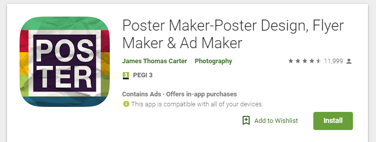 Post Maker Flyers Android