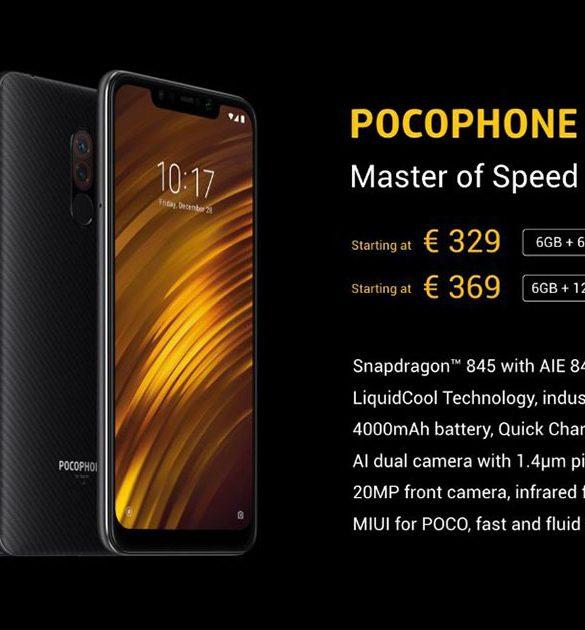 Precio PocoPhone F1 Europa