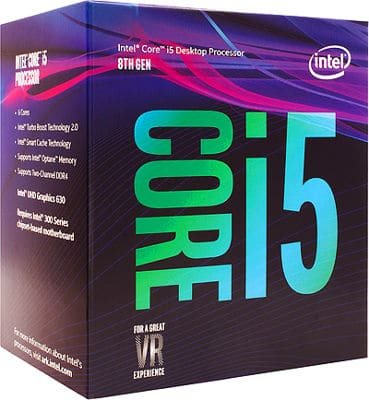 Procesadores gamer Intel Core i5-8400