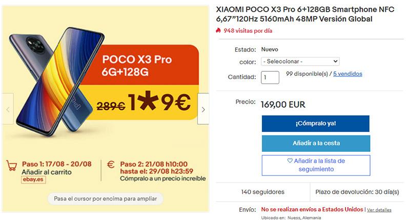 Promocion POCO X3 Pro