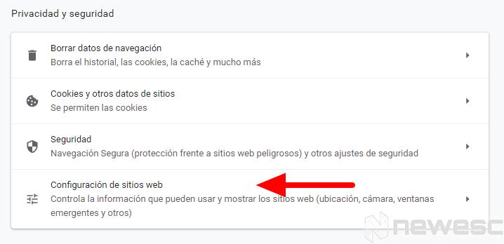 Quitar notificaciones de Chrome 1