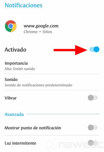 Quitar notificaciones de Chrome 4