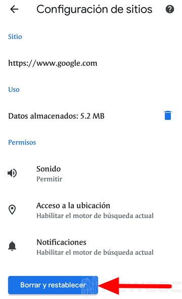Quitar notificaciones de Chrome móvil 2