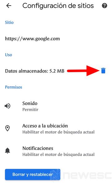 Quitar notificaciones de Chrome móvil 3