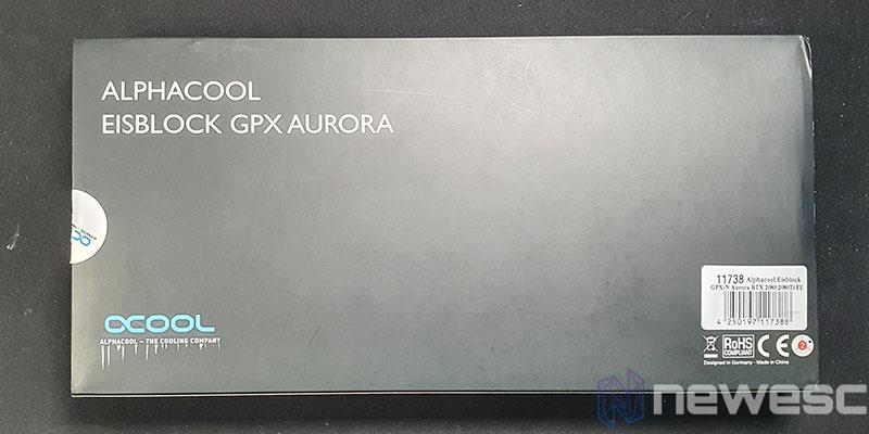 REVIEW ALPHACOOL EISBLOCK AURORA GPXN RTX 2080TI CAJA DETRAS