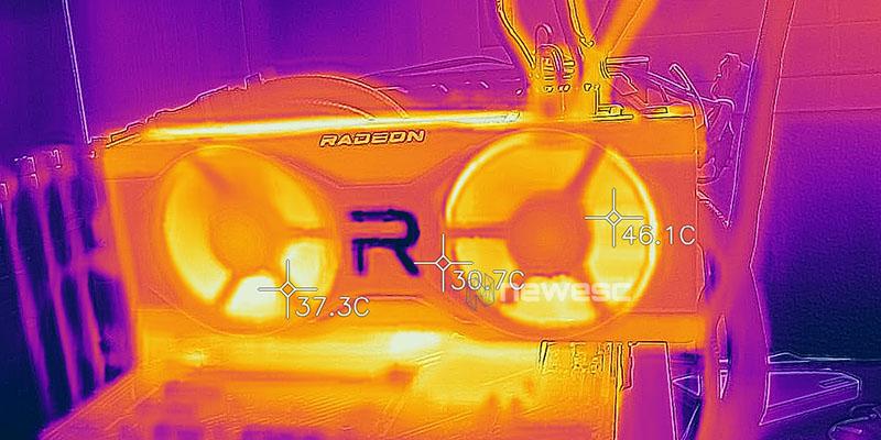 REVIEW AMD RADEON RX 6700 XT TEMPERATURA FRONTAL