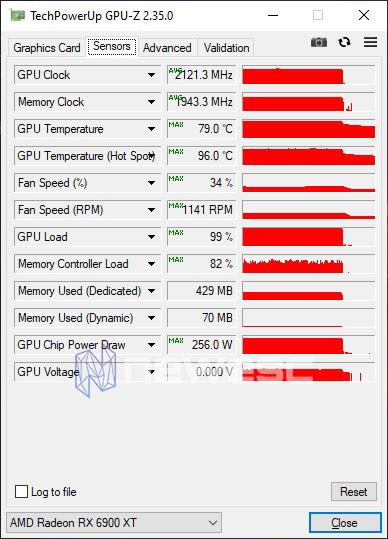 REVIEW AMD RADEON RX 6900XT STOCK GPUZ