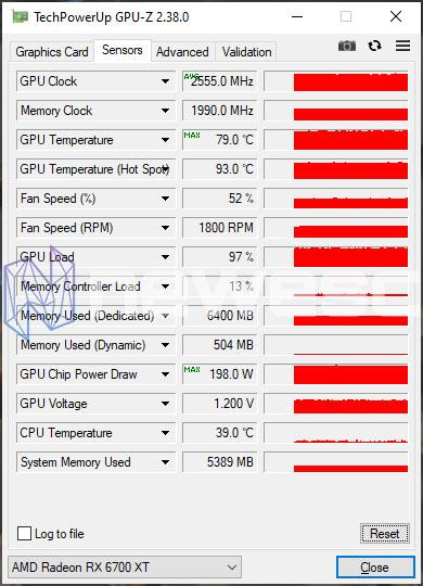 REVIEW AMD RX 6700 XT GPUZ OC