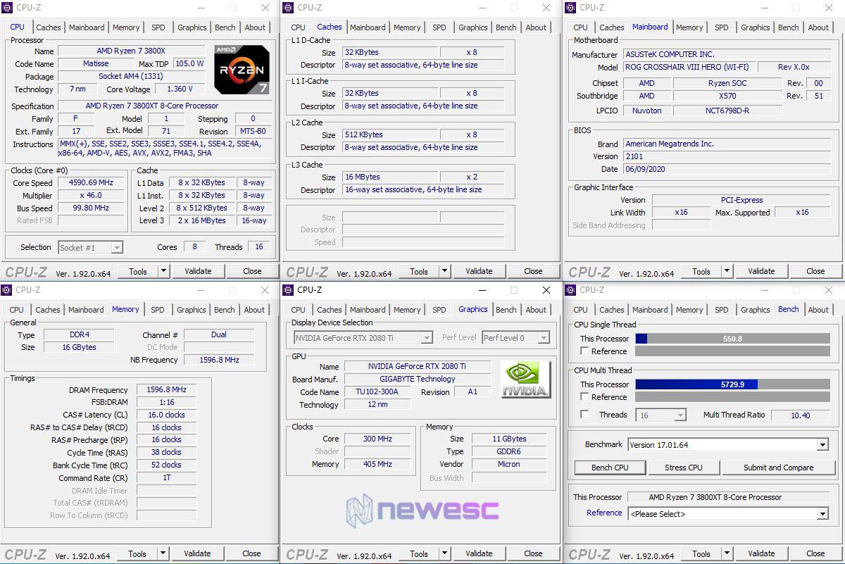 REVIEW AMD RYZEN 3800XT EQUIPO DE PRUEBAS