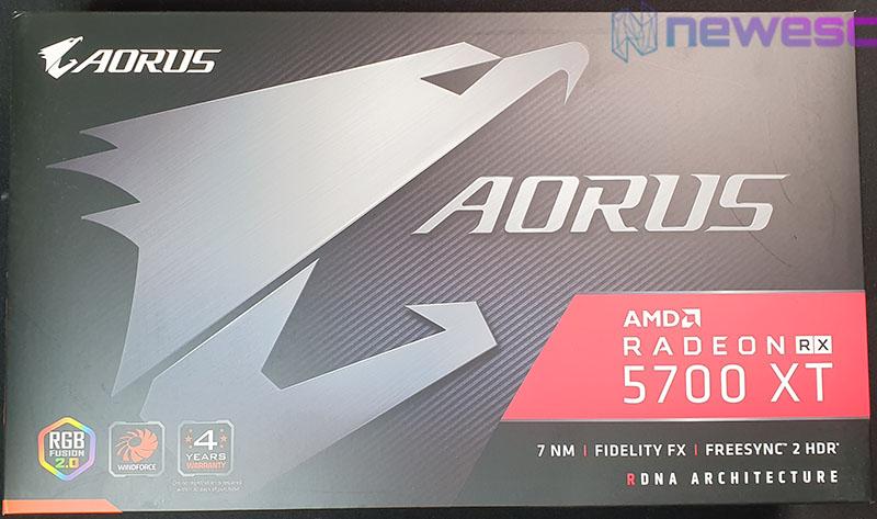 REVIEW AORUS RX 5700 XT CAJA DELANTE