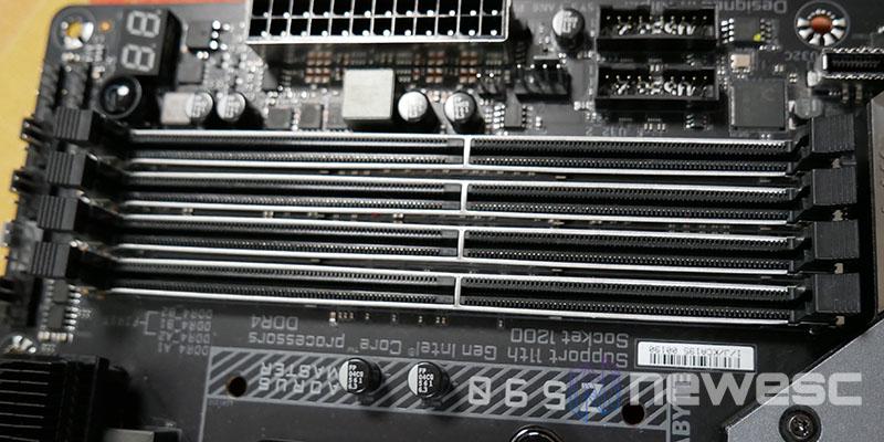 REVIEW AORUS Z590 MASTER PUERTOS DIMM