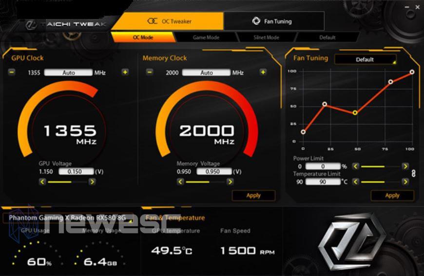 REVIEW ASROCK 5700 XT TAICHI ASROCK TWEAKER