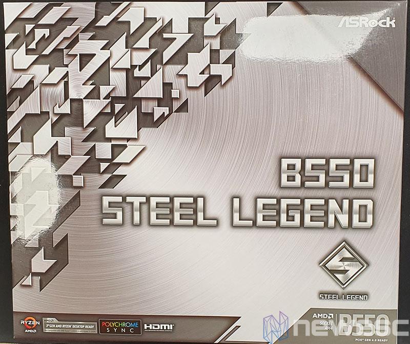 REVIEW ASROCK B550 STEEL LEGEND CAJA DELANTE