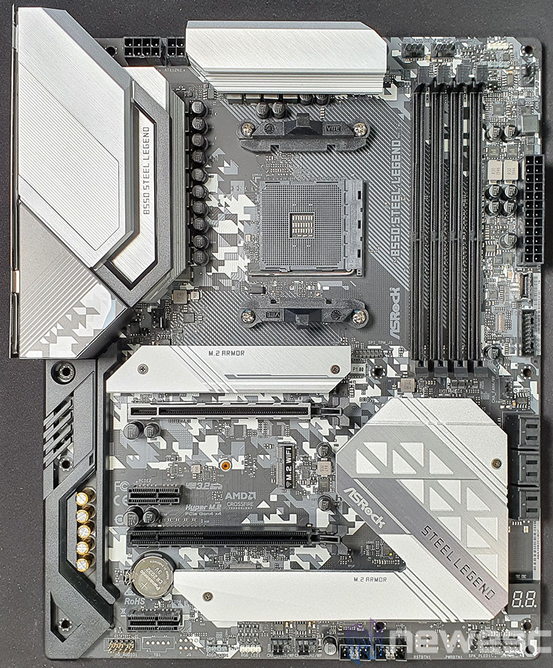 REVIEW ASROCK B550 STEEL LEGEND PCB DELANTE