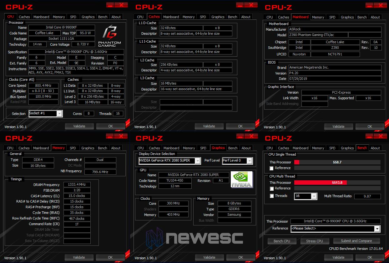 REVIEW ASROCK Z390 PHANTOM GAMING ITX AC CPUZ