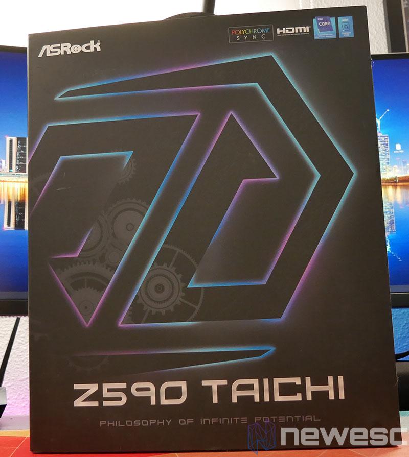 REVIEW ASROCK Z590 TAICHI CAJA DELANTE