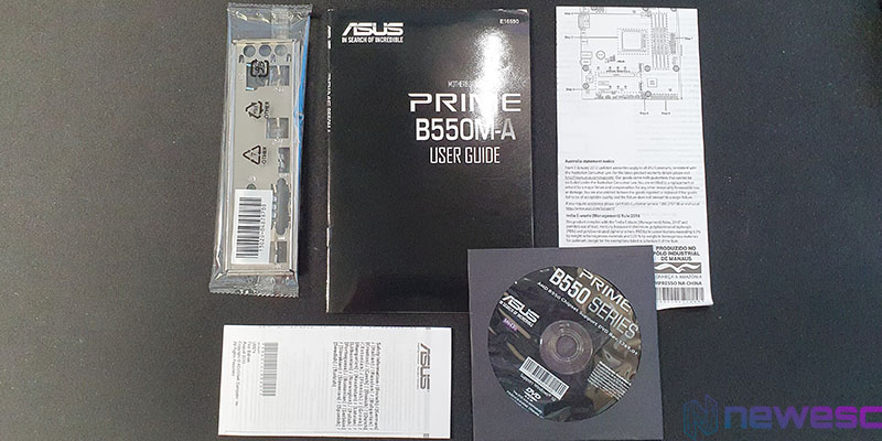 REVIEW ASUS PRIME B550M A ACCESORIOS