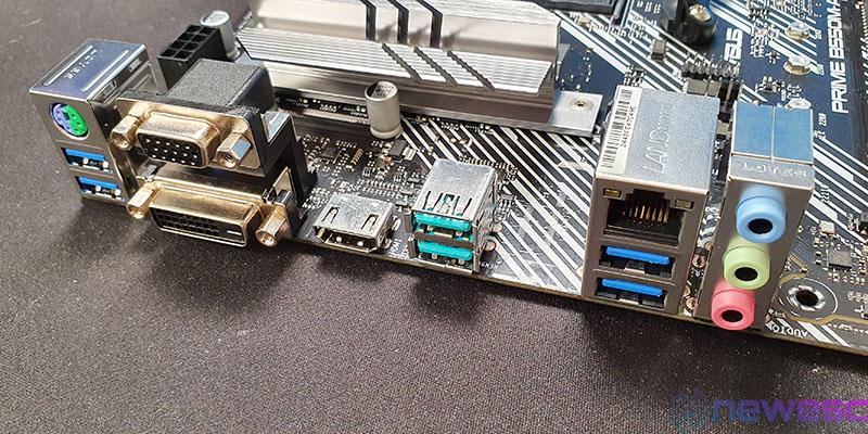 REVIEW ASUS PRIME B550M A CONEXIONES EXTERNAS