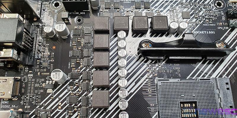 REVIEW ASUS PRIME B550M A VRM EN EL PCB