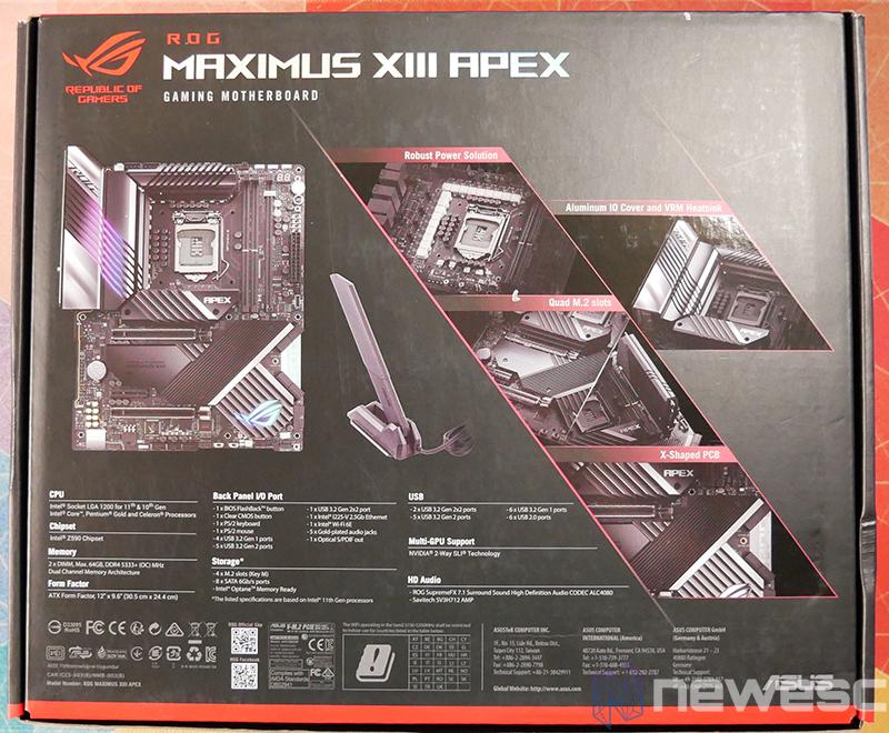 REVIEW ASUS ROG MAXIMUS APEX XIII caja detras