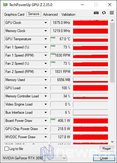 REVIEW ASUS ROG STRIX GAMING RTX 3090 OC GPUZ CONSUMO Y TEMPERATURA STOCK