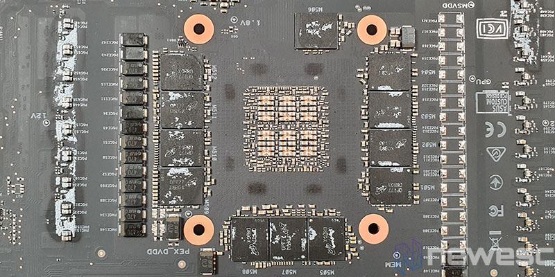 REVIEW ASUS ROG STRIX GAMING RTX 3090 OC MEMORIAS DETRAS CHIPSET