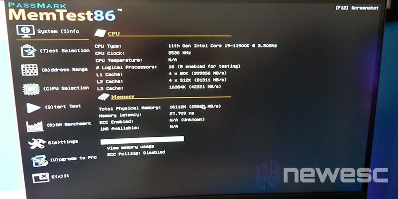 REVIEW ASUS ROG STRIX Z590E GW MEMTEST86