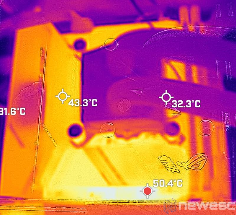 REVIEW ASUS ROG STRIX Z590I GW TEMPERATURA 2