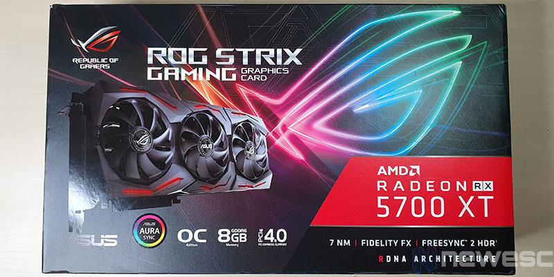 REVIEW ASUS RX 5700 XT STRIX CAJA DELANTE