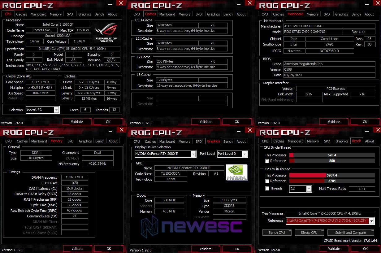 REVIEW ASUS STRIX Z490 I GAMING EQUIPO DE PRUEBAS