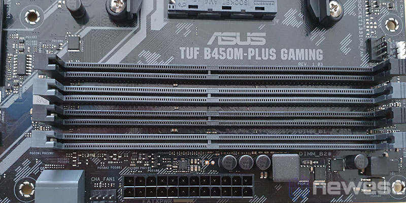 REVIEW ASUS TUF B450M PLUS GAMING DIMMS