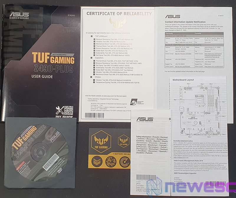 REVIEW ASUS TUF GAMING Z490 PLUS ACCESORIOS