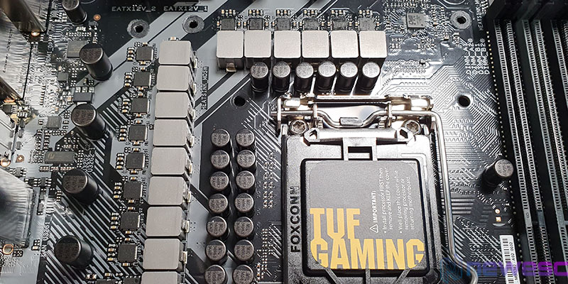 REVIEW ASUS TUF GAMING Z490 PLUS VRM