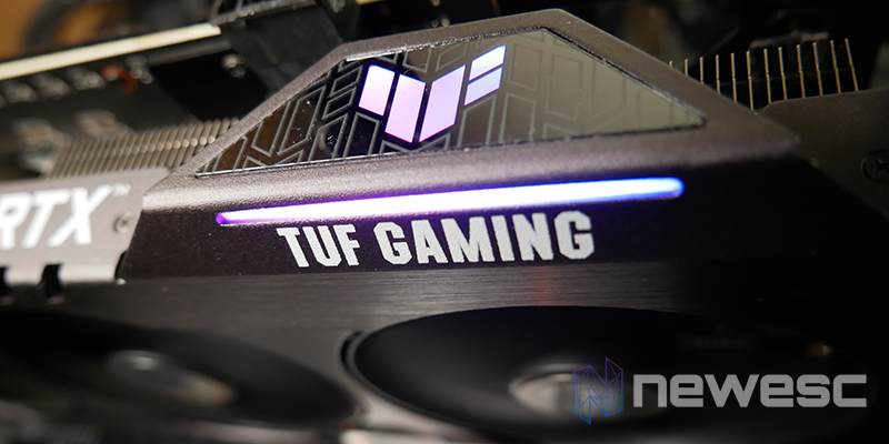 REVIEW ASUS TUF RTX 3060Ti OC RGB LATERAL