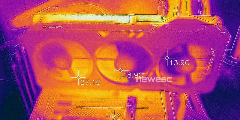 REVIEW ASUS TUF RX 6800 XT TEMPERATURAS FRONTAL
