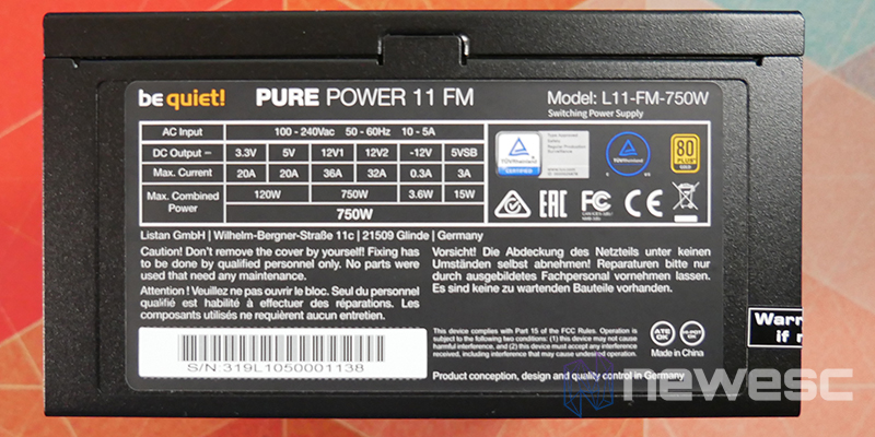REVIEW BE QUIET PURE POWER 11 FM LATERAL