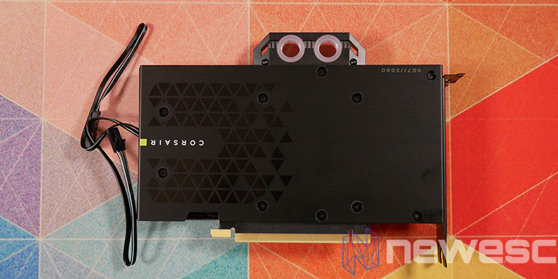 REVIEW CORSAIR XG7 RTX 3080 FE BACKPLATE INSTALADO