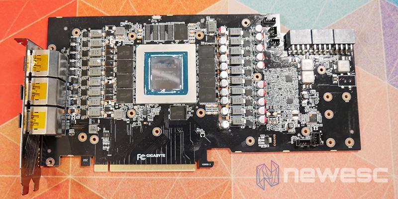 REVIEW GIGABYTE AORUS RTX 3080 XTREME 10G PCB DELANTE