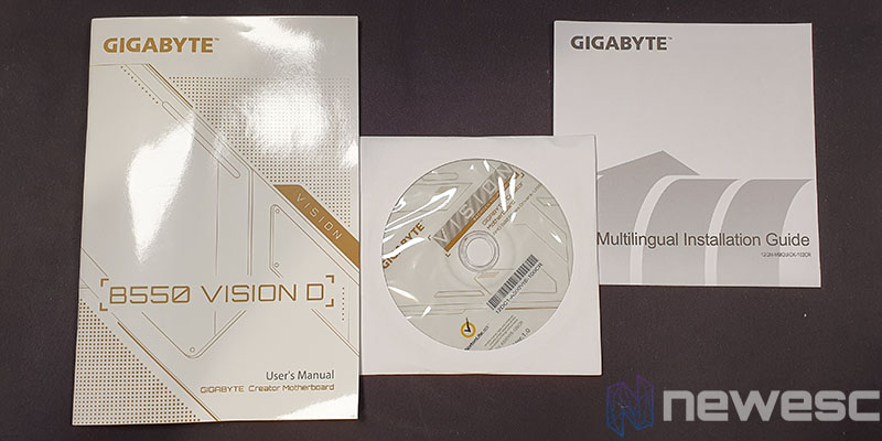 REVIEW GIGABYTE B550 VISION D ACCESORIOS 2