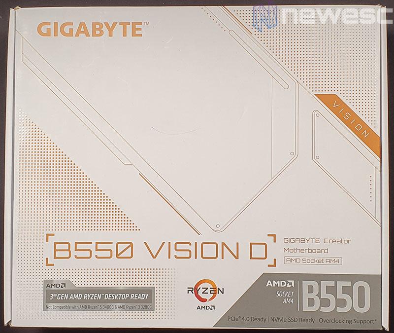 REVIEW GIGABYTE B550 VISION D CAJA DELANTE