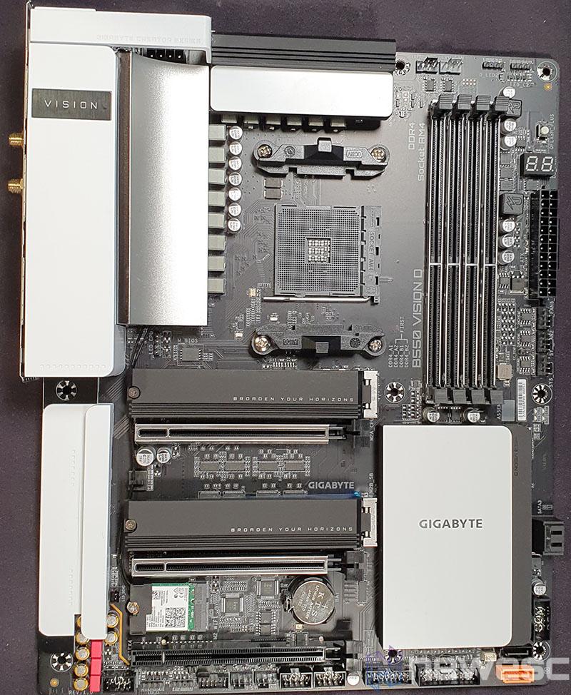 REVIEW GIGABYTE B550 VISION D PCB