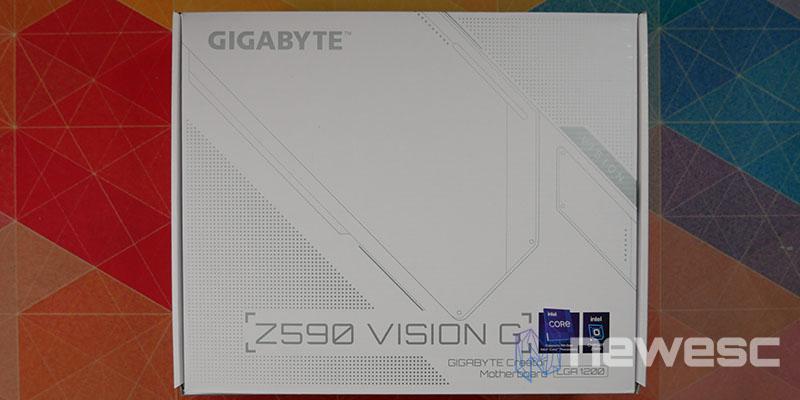 REVIEW GIGABYTE Z590 VISION G CAJA DELANTE