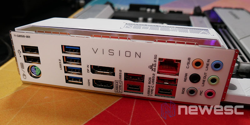 REVIEW GIGABYTE Z590 VISION G CONEXIONES EXTERNAS