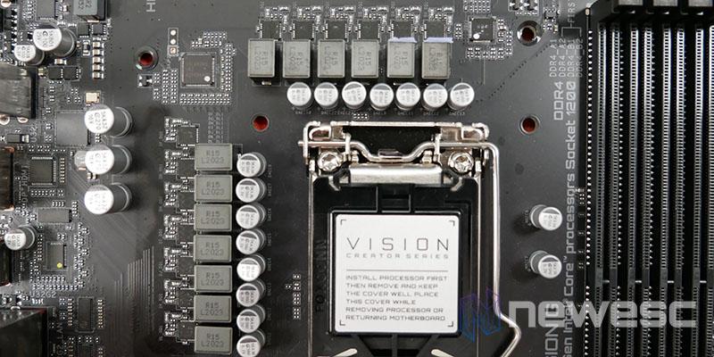 REVIEW GIGABYTE Z590 VISION G VRM