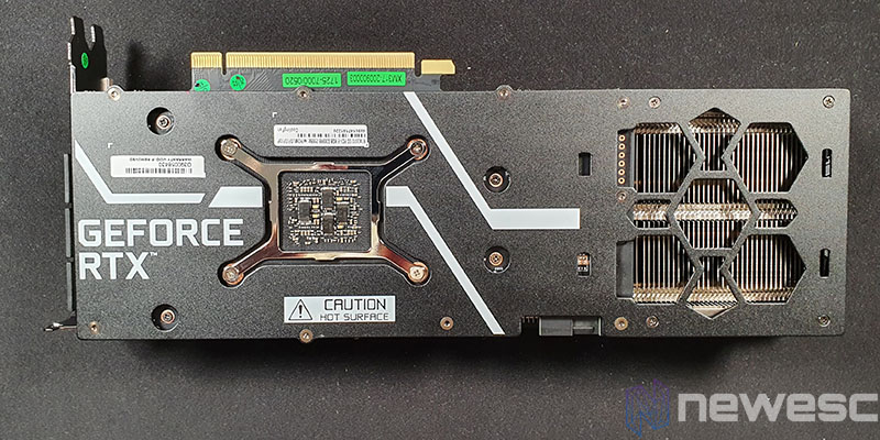 REVIEW KFA2 RTX 3070 SG BACKPLATE