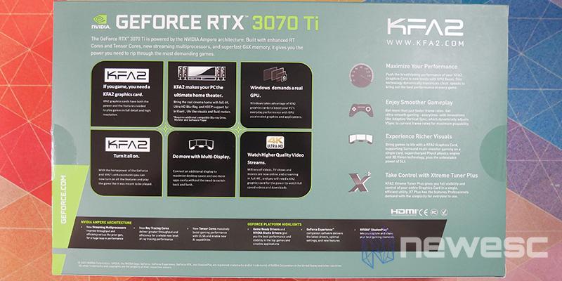REVIEW KFA2 RTX 3070TI SG CAJA DETRAS
