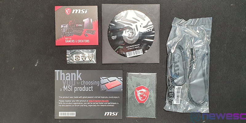 REVIEW MSI MAG B460 TOMAHAWK ACCESORIOS 2