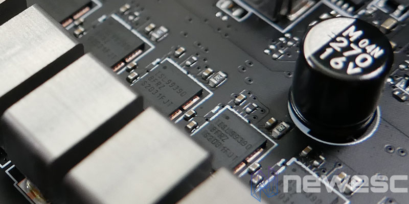 REVIEW MSI MEG Z590 ACE MOSFETS INTERSIL