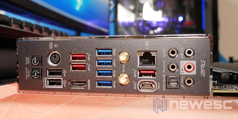REVIEW MSI MPG X570S CARBON EK X CONEXIONES EXTERNAS