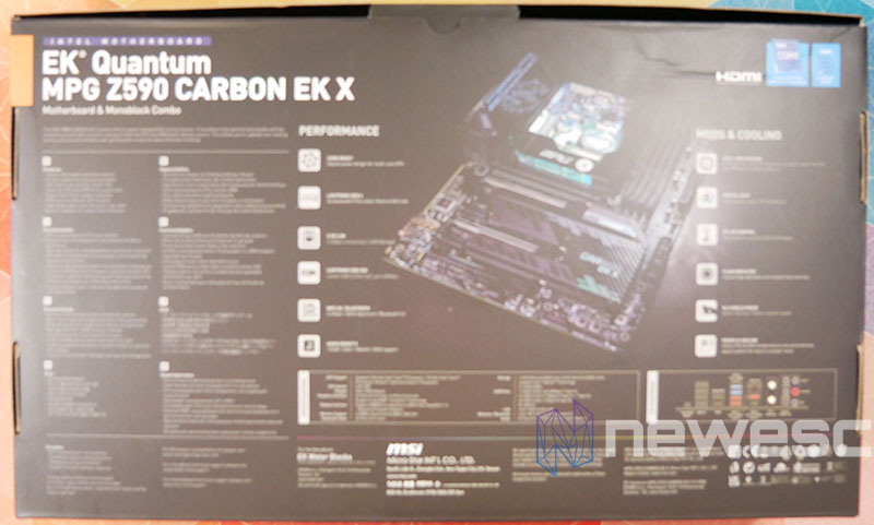 REVIEW MSI MPG Z590 CARBON EK X EMBALAJE